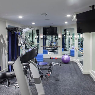 75 beautiful gray home gym pictures  ideas  houzz