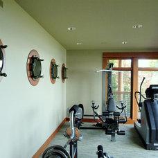 Contemporary Home Gym by H2K design Inc.