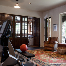 Traditional Home Gym by Kate Jackson Design