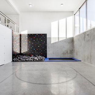 Ispirazione per una palestra in casa minimalista