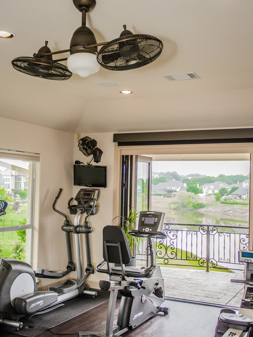 Traditional dallas home gym design ideas pictures