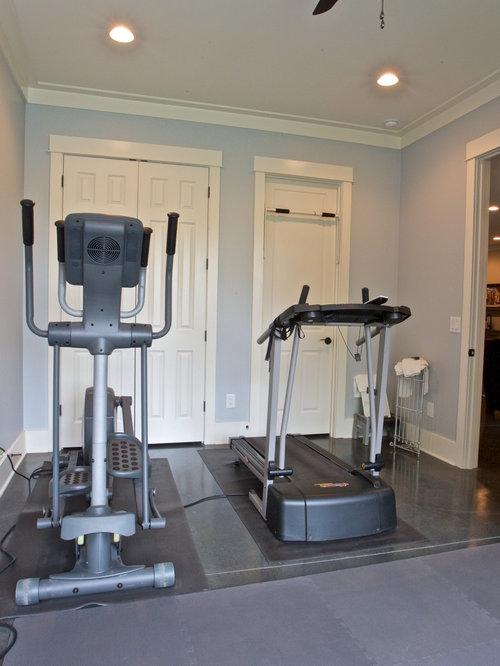 Small home gym design ideas renovations photos with