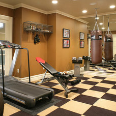Traditional Home Gym by Carisa Mahnken Design Guild