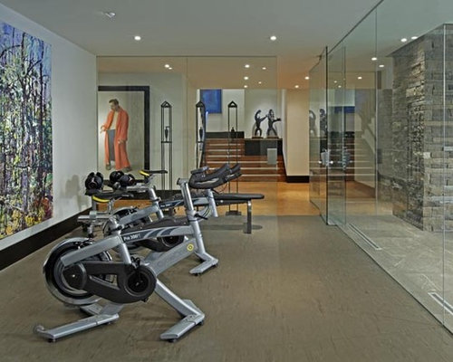Toronto home gym design ideas pictures remodel decor