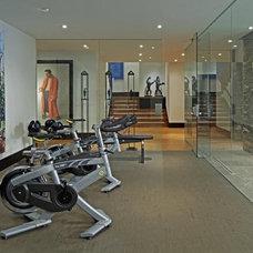 Contemporary Home Gym by Douglas Design Studio