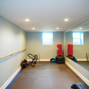 This is an example of a classic home gym in New York.