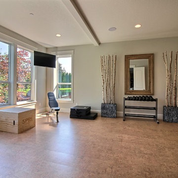 Exercise Room in Daylight Basement : The Cadence : 2018 Parade of Homes