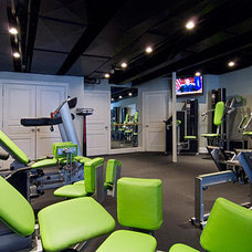 Eclectic Home Gym by Michael Menn Ltd.
