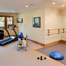Traditional Home Gym by Pillar Homes