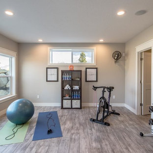 Arts and crafts home gym in Salt Lake City.