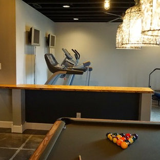 75 beautiful small concrete floor home gym pictures