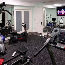 Traditional Home Gym by Dell Smart Home Solutions