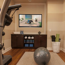 Contemporary Home Gym by Masterpiece Design Group