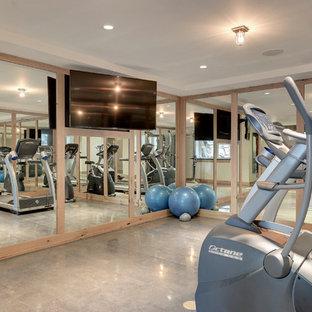 Eklektischer Fitnessraum in Minneapolis