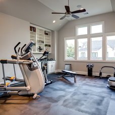 Contemporary Home Gym by Connie Anderson Photography