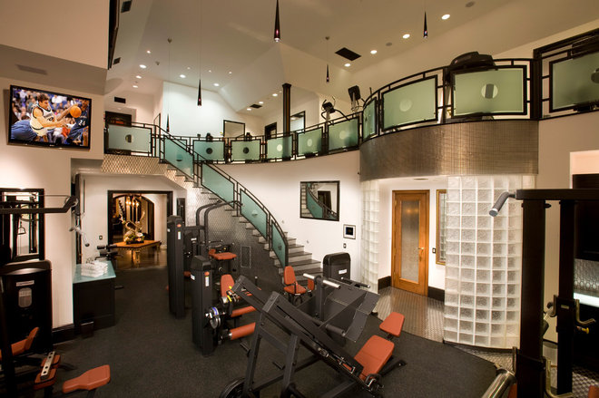 Traditional Home Gym by Arc Design Group
