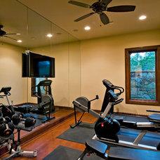 Traditional Home Gym by Bella Villa Design Studio