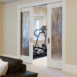 Стильный дизайн: домашний тренажерный зал в стиле модернизм - последний тренд