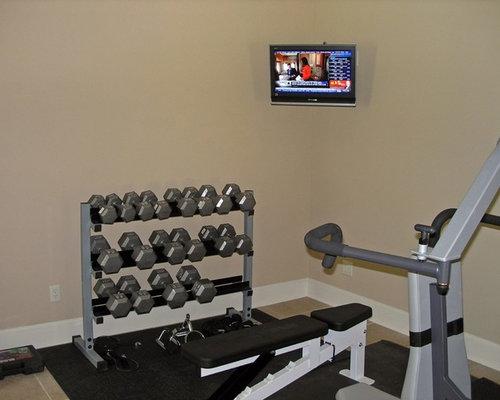 Home gym design ideas renovations photos with ceramic for Best wall color for home gym