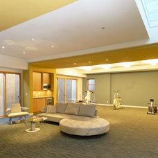 Contemporary Home Gym by square three design studios