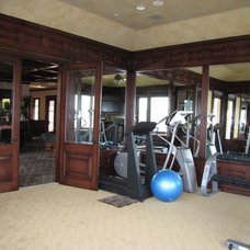 Traditional Home Gym by Brandi Smith