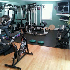 Modern Home Gym by Harrington Construction
