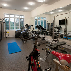 Contemporary Home Gym by Swerdloff Properties Inc.