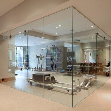 Glass Wall Home Fitness Room