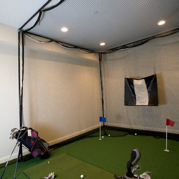 Golf Room with Full Swing Simulator