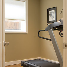 Contemporary Home Gym by Logan's Hammer Building & Renovation