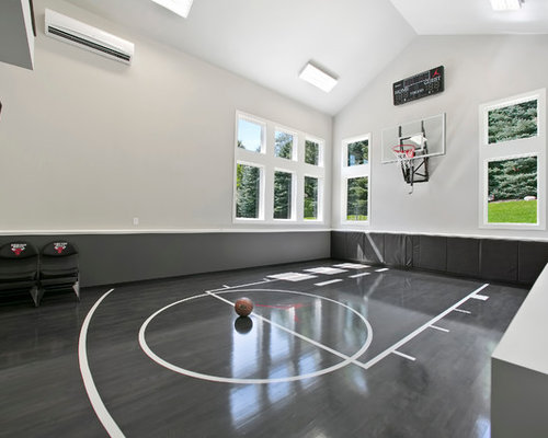 Best transitional indoor sport court design ideas for House plans with indoor sport court