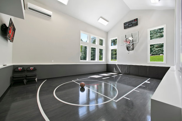 The big splurge indoor basketball courts for true hoops fans for How to build a basketball gym