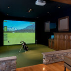 Golf Simulators Traditional Room Boston