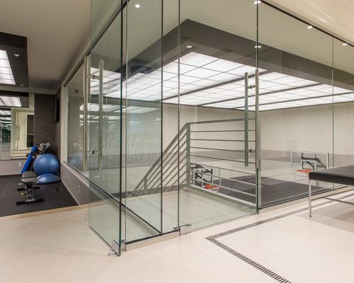 photos et id es d co de salles de musculation modernes. Black Bedroom Furniture Sets. Home Design Ideas