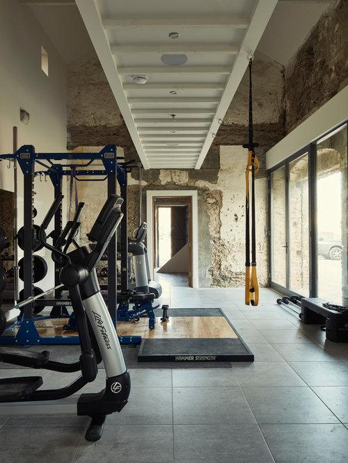 Rustic Home Gym Ideas & Design Photos | Houzz