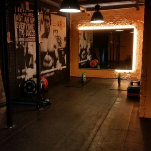 Most popular small industrial home gym design ideas for