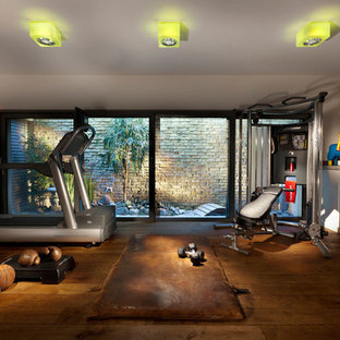 Most popular industrial los angeles home gym design ideas for