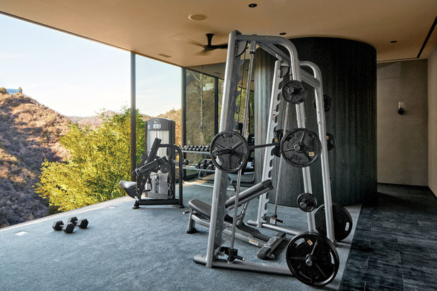 Contemporary Home Gym by Addition Building & Design, Inc.
