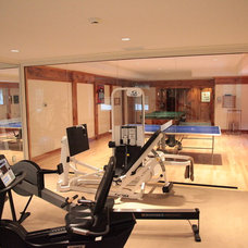 Contemporary Home Gym by Halcyon Design, LLC