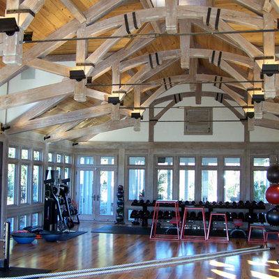 Home gym - contemporary home gym idea in Baltimore