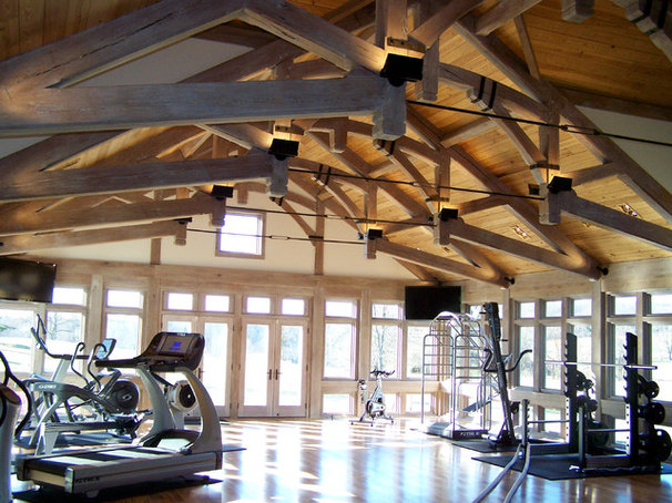 Contemporary Home Gym by Penza Bailey Architects