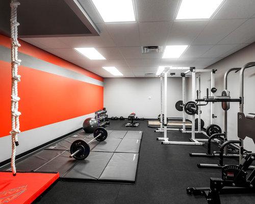 Salle de musculation moderne de luxe : Photos et idées déco de ...