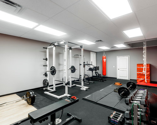 Salle de musculation moderne : Photos et idées déco de salles de ...
