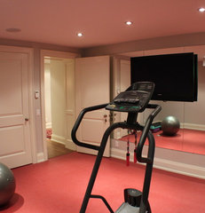 contemporary home gym by Irwin Allen Design Build Inc.