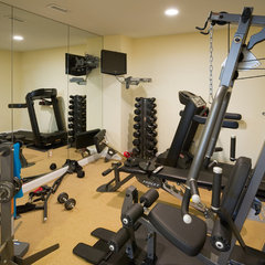 traditional home gym by Carter Inc Builders