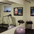 Glass Wall Home Fitness Room - Contemporary - Home Gym - Toronto - by JJ Home Products Inc