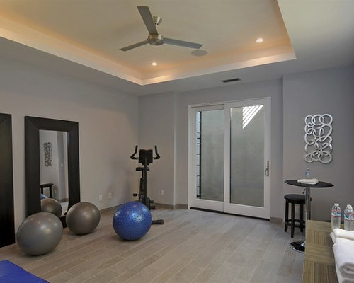 Home gym design ideas renovations photos with painted for Annmarie ruta elegant interior designs