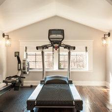 Craftsman Home Gym by Renewal Design-Build