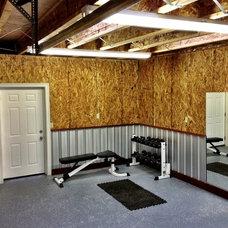 Contemporary Home Gym by Aloha Home Builders
