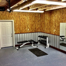 Contemporary Home Gym by Aloha Home Builders